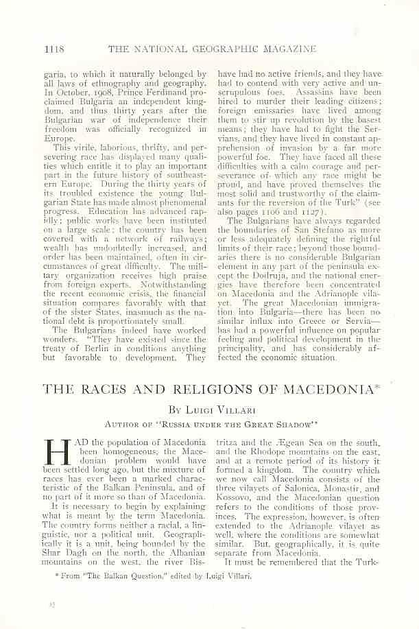 NG 1912 Macedonia1a National Geographic and FYROM propaganda