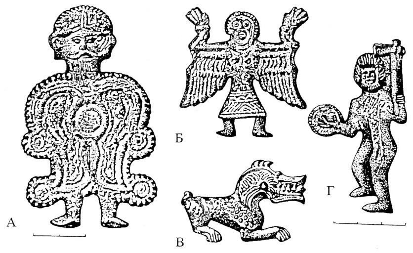 Сл. 3. Словенски магиски (култни) метални плочки од Велестино во Тесалија